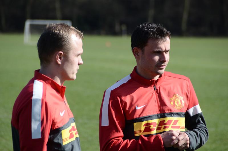 Manchester United Spieler beim Interview