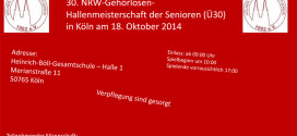 NRW Meisterschaft der Senioren im Fußball