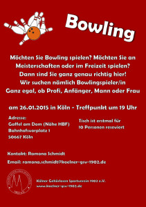 Bowlingabteilung