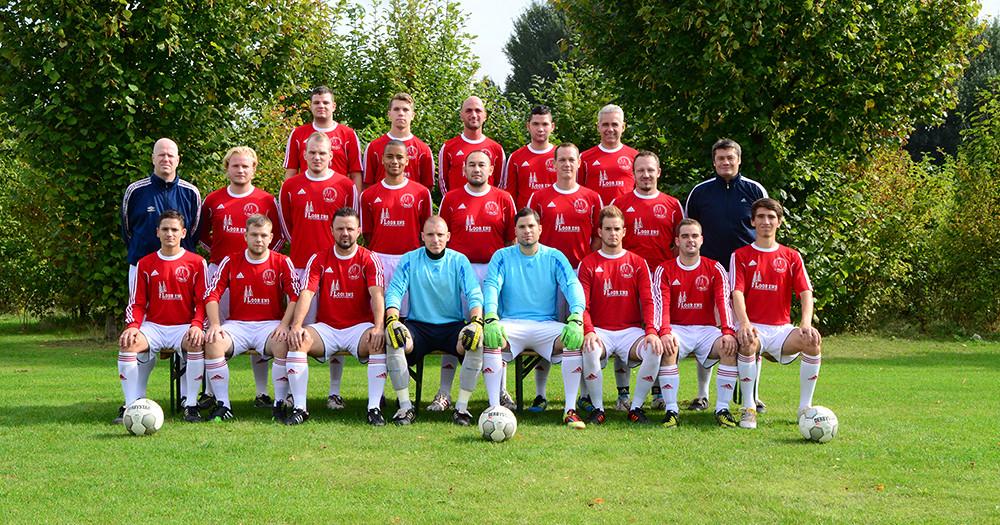 Die 1. Herrenmannschaft des Kölner Gehrölosen Sportvereins